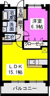 スルス門松 / 502号室間取り