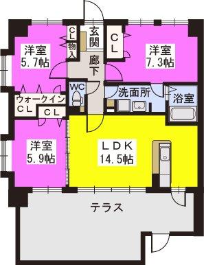 スルスO-DIK GARDEN / 103号室間取り