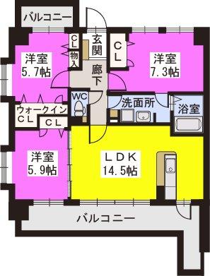 スルスO-DIK GARDEN / 603号室間取り