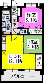 スルス門松駅前 / 303号室間取り