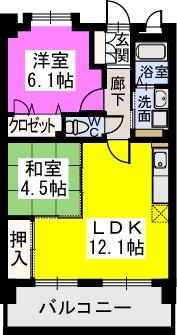 スルス門松駅前 / 402号室間取り