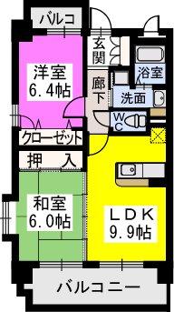 スルス門松駅前 / 505号室間取り