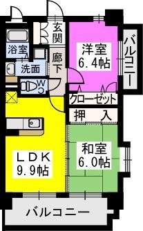 スルス門松駅前 / 601号室間取り
