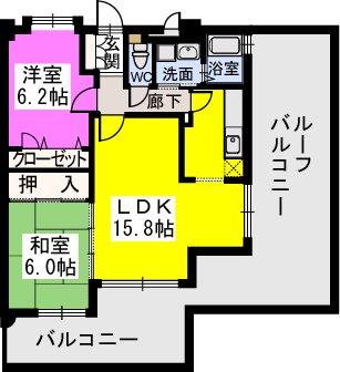 スルス門松駅前 / 701号室間取り