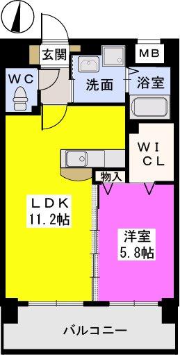 スルス門松駅前Ⅱ / 202号室間取り