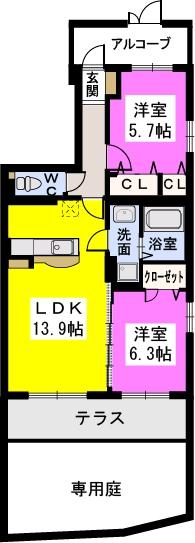 ラ・プランタン門松 / 103号室間取り
