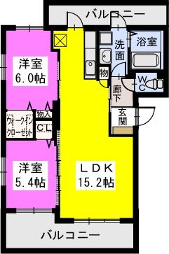 N・ロッサ原町駅南 / 301号室間取り