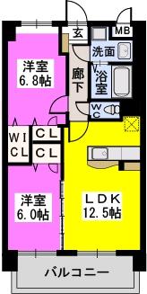 コンフォート東比恵 / 802号室間取り