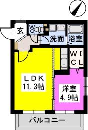 ドミール シャトーⅡ / 201号室間取り