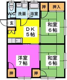 稲永アパート / 1号室号室間取り