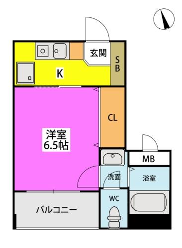 アクセス第1ビル / 401号室間取り