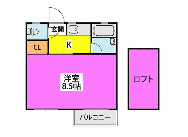 ルミエール原田 / 205号室間取り