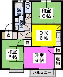 ※ピュア篠栗 / 103号室間取り