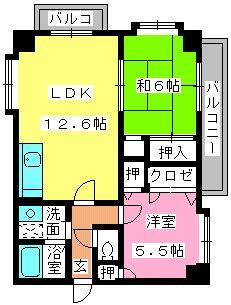 エステートYMⅡ / 402号室間取り