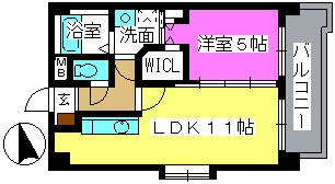 K.313 fukuoka / 203号室間取り