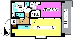 K.313 fukuoka / 503号室間取り