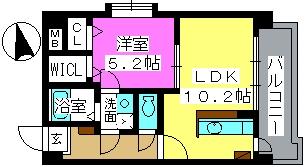 K.313 fukuoka / 701号室間取り