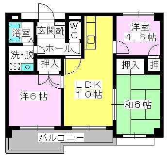 エスポワール長者原西 / 302号室