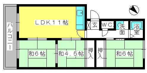 筑紫ビル / 101号室