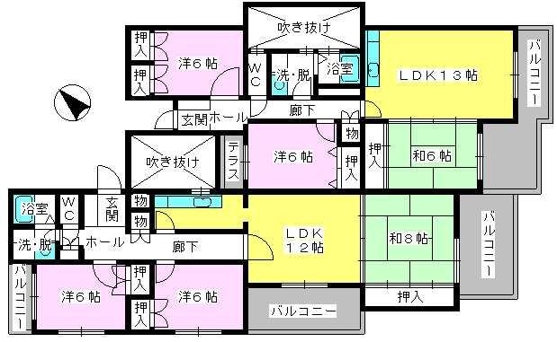 グランドール藤本 / 403号室