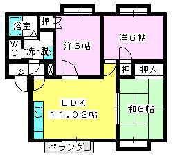 メロディハイツ泉 / 203号室間取り