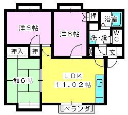 メロディハイツ泉 / 205号室間取り