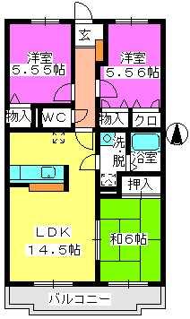 ハイツ千里台Ⅲ / S403号室間取り