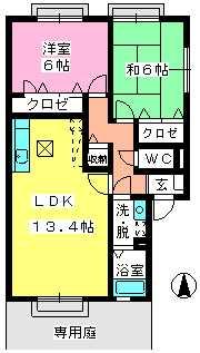 ティアラ横浜 / A-101号室間取り