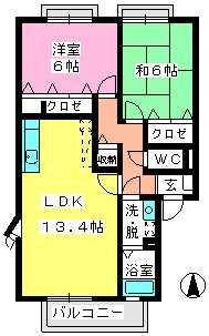 ティアラ横浜 / A-203号室間取り
