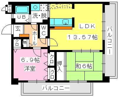 オークス / 302号室間取り