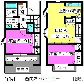 ガーデンコートM / 110号室間取り