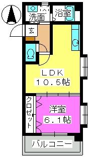 レークサイドSK / 301号室間取り