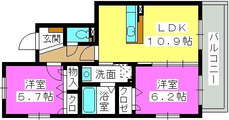メゾンド プランドール / 203号室間取り