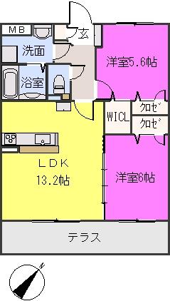 フィオーレ波多江駅南 / 103号室間取り