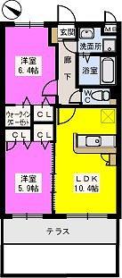 リブェールメゾン富士見 / 102号室間取り