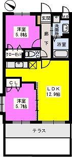 リブェールメゾン富士見 / 105号室間取り
