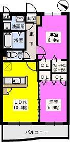 リブェールメゾン富士見 / 203号室間取り