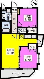 リブェールメゾン富士見 / 301号室間取り