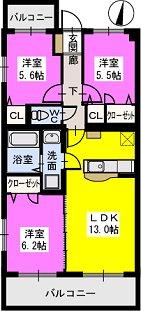 ペルーラ / A201号室間取り