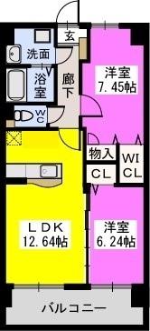コゥジィーコート 駅前通り / 202号室間取り