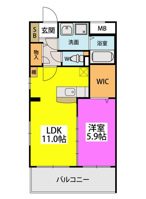(仮)田尻賃貸マンション / 307号室間取り