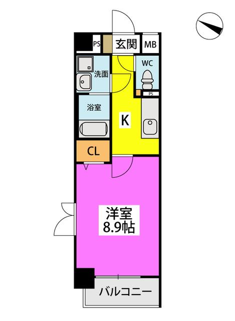 (仮)ハイツウェルス4九大マンション / 401号室間取り