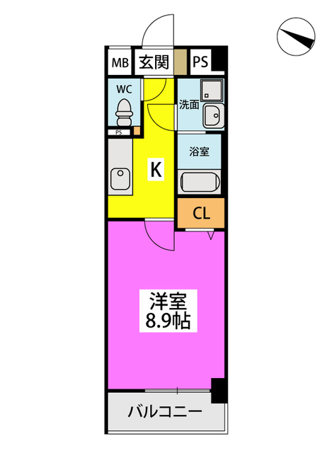 (仮)ハイツウェルス4九大マンション / 502号室間取り