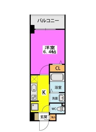 (仮称)北原1丁目プロジェクト / 202号室間取り