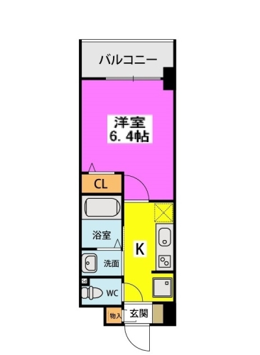 (仮称)北原1丁目プロジェクト / 408号室間取り