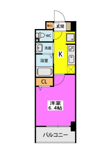 (仮称)北原1丁目プロジェクト / 611号室間取り