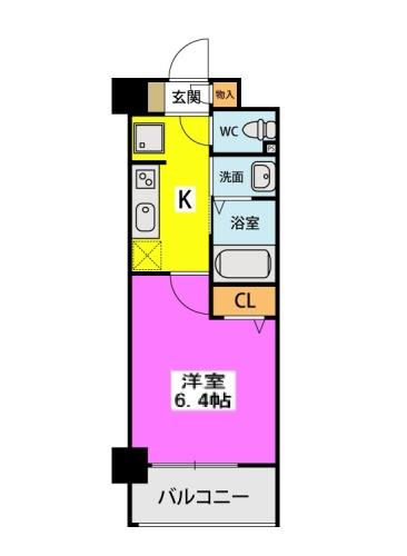 (仮称)北原1丁目プロジェクト / 617号室間取り