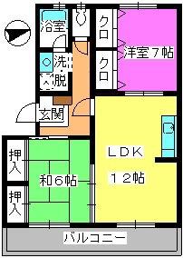 黒坂壱番館 / 303号室間取り