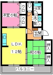 黒坂壱番館 / 402号室間取り
