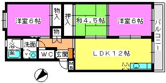 コーポユキ / 402号室間取り